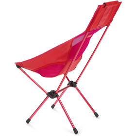 Helinox Sunset Chaise, red block/burgundy